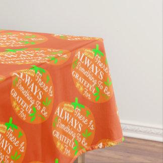 感謝祭の常に感謝したカボチャプリント テーブルクロス