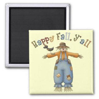 感謝祭の幸せな秋の正方形の磁石 マグネット