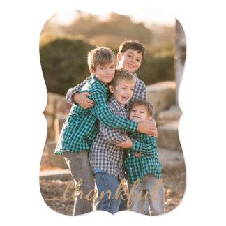 感謝祭の感謝しているカスタムな写真カード 12.7 X 17.8 インビテーションカード