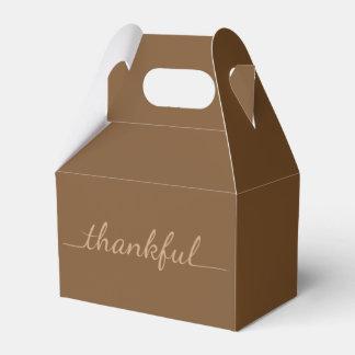 感謝祭の感謝しているテイクアウトの容器箱 フェイバーボックス