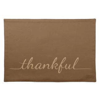 感謝祭の感謝しているランチョンマット ランチョンマット