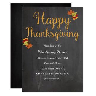 感謝祭の招待状 カード