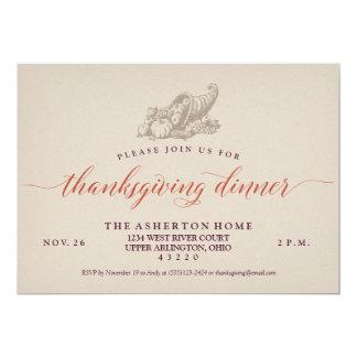 感謝祭の招待 カード