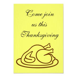 感謝祭の招待 12.7 X 17.8 インビテーションカード