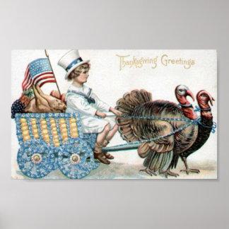 感謝祭の挨拶 ポスター