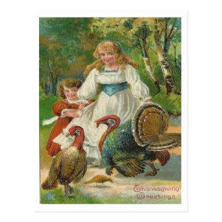感謝祭の挨拶 ポストカード