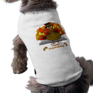 感謝祭の漫画のトルコの巡礼者 ペット服