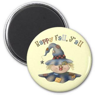 感謝祭の秋の円形の磁石 マグネット