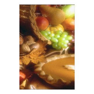 感謝祭の秋の饗宴の夕食のプリント 便箋