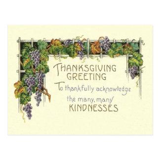 感謝祭の親切さ ポストカード