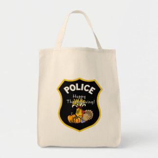 感謝祭の警察 トートバッグ