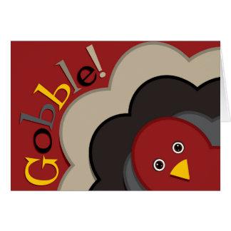 感謝祭の隠れる七面鳥 カード