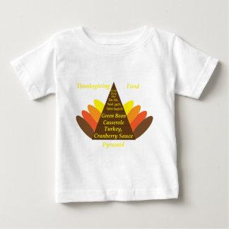 感謝祭の食糧ピラミッド暗いcopy.png ベビーTシャツ