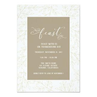 感謝祭の饗宴のパーティの招待状 カード