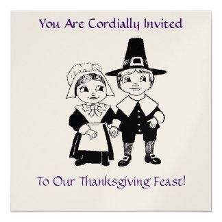 感謝祭の饗宴の招待状 13.3 スクエアインビテーションカード