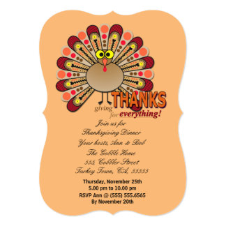 感謝祭のgoggly注目された七面鳥 カード
