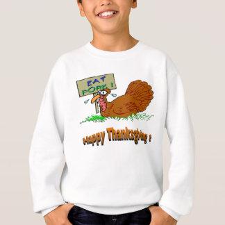 感謝祭はポークを食べます スウェットシャツ