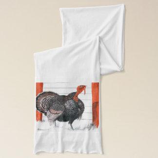 感謝祭トルコのヴィンテージのイラストレーション スカーフ