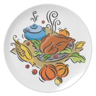 感謝祭トルコ プレート
