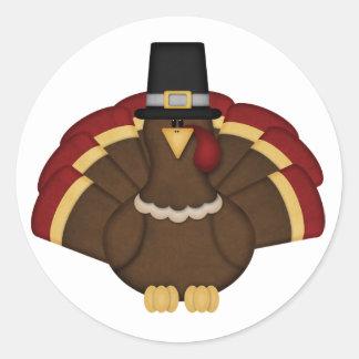 感謝祭トルコ ラウンドシール