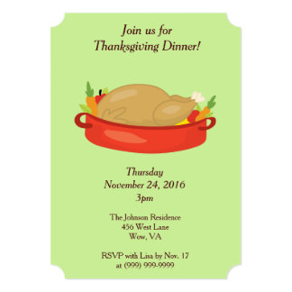 感謝祭家族の夕食 12.7 X 17.8 インビテーションカード