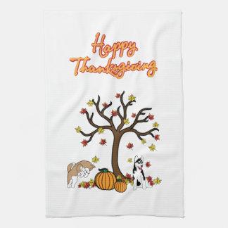 感謝祭手タオル キッチンタオル