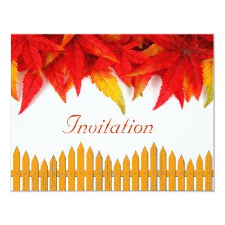感謝祭日の招待状カード カード