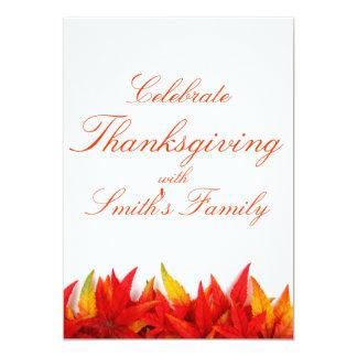 感謝祭日の招待状カード 12.7 X 17.8 インビテーションカード