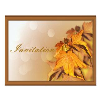 感謝祭日の招待状 カード