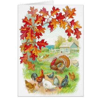 感謝祭日カード カード