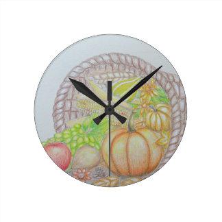 感謝祭 ラウンド壁時計