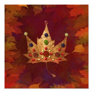 感謝祭、秋の宝石 13.3 スクエアインビテーションカード