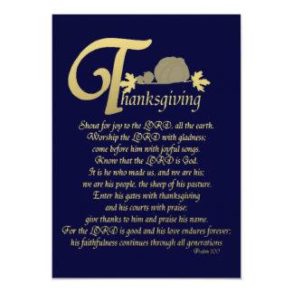 感謝祭-賛美歌100 12.7 X 17.8 インビテーションカード