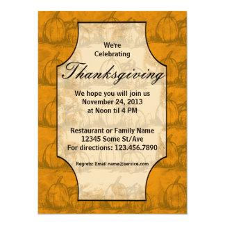 感謝祭 14 X 19.1 インビテーションカード
