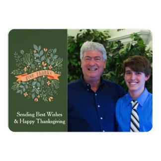 感謝、感謝祭の写真カードを与えて下さい 12.7 X 17.8 インビテーションカード