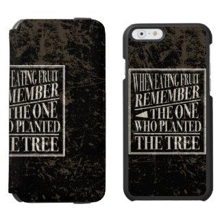 感謝: 木を植えた人を覚えて下さい INCIPIO WATSON™ iPhone 6 ウォレットケース