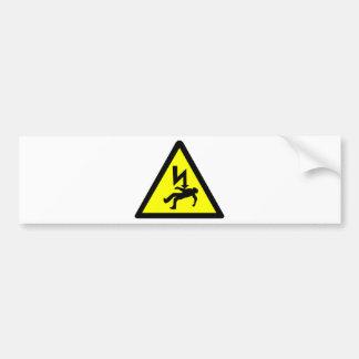 感電の記号の危険 バンパーステッカー