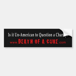 慈善に質問するそれはアメリカ的でないですか。 バンパーステッカー