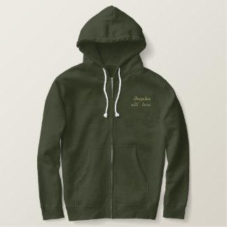 慈善のイベントのための人のジャケット 刺繍入りパーカ