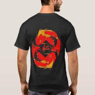 慈善の漢字の内気な魚 Tシャツ