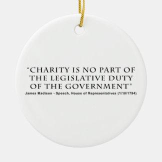 慈善は政府の部分の立法義務ではないです 陶器製丸型オーナメント