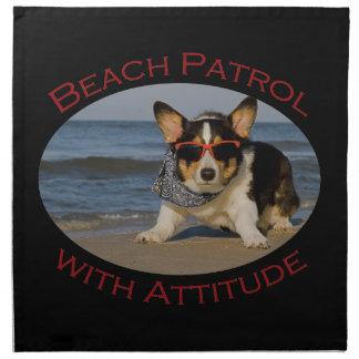 態度のビーチのパトロール ナプキンクロス