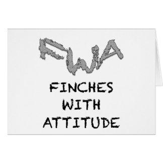 態度のフィンチ カード