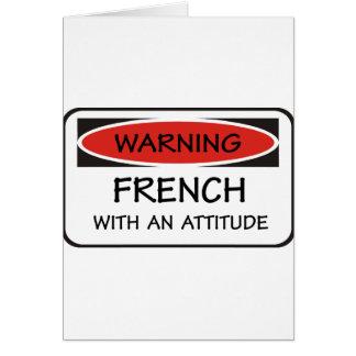 態度のフランス語 カード