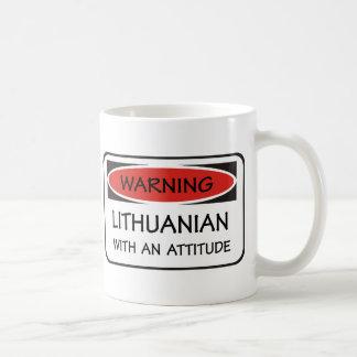 態度のリトアニア語 コーヒーマグカップ