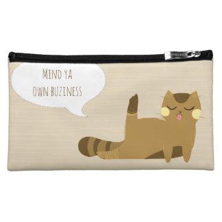 態度の猫 コスメティックバッグ