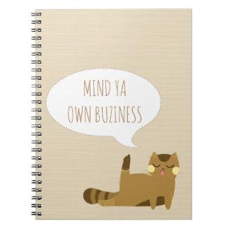 態度の猫 ノートブック