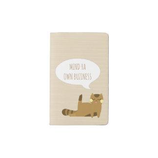 態度の猫 ポケットMoleskineノートブック