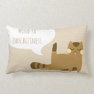 態度の猫 ランバークッション