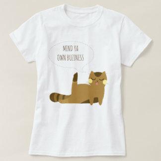 態度の猫 Tシャツ